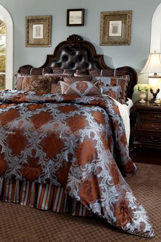 Michael Amini - Bellingham Court Twelve Piece Queen Comforter Set - BCS-QS12-BELLING-CHO