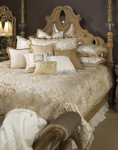 Michael Amini - Luxembourg Twelve Piece Queen Comforter Set - BCS-QS12-LUXEMB-CRM