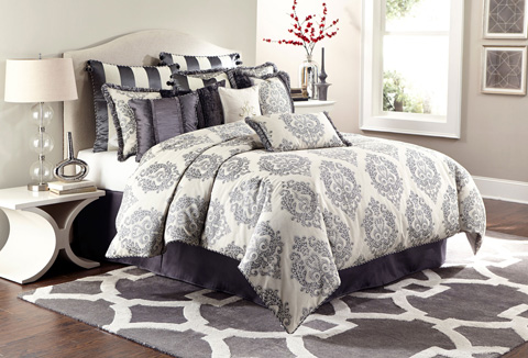 Image of Peyton Twelve Piece Queen Comforter Set