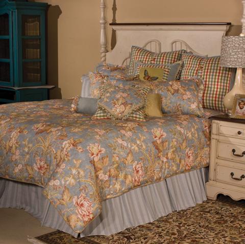 Michael Amini - Tricia Twelve Piece Queen Comforter Set - BCS-QS12-TRICIA-SPA
