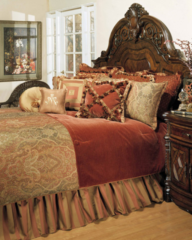 Michael Amini - Woodside Park Twelve Piece Queen Comforter Set - BCS-QS12-WDSPRK-SPI