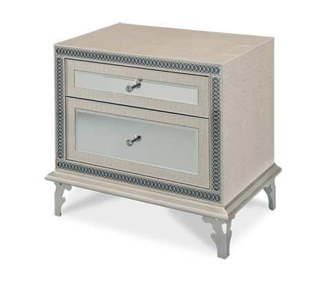 Image of Crystal Croc Upholstered Nightstand