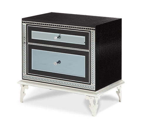Image of Hollywood Swank Upholstered Nightstand
