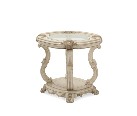 Michael Amini - Platine de Royale End Table in Champagne - 09202-201