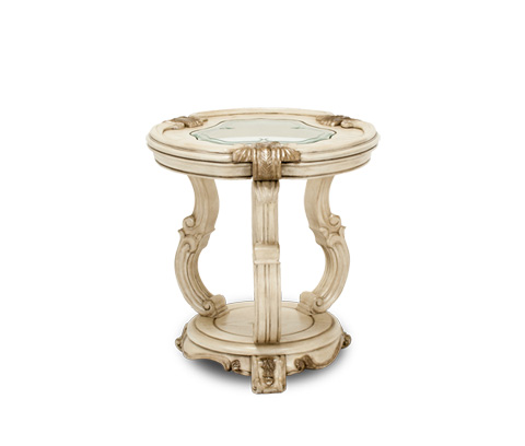 Michael Amini - Platine de Royale Chair Side Table in Champagne - 09222-201
