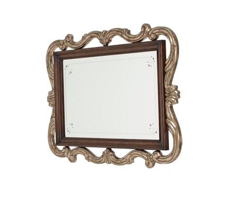 Michael Amini - Platine de Royale Wall Mirror in Light Espresso - 09260-229