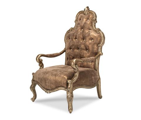 Michael Amini - Platine de Royale Wood Chair - 09834-SABLE-101