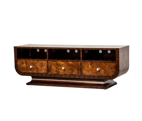 Image of Cloche TV Stand in Bourbon