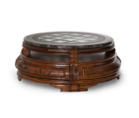 Image of Tuscano Round Cocktail Table in Melange