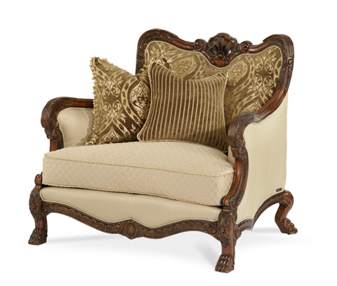 Michael Amini - Wood Trim Chair and a Half - 75838-ANGLD-39