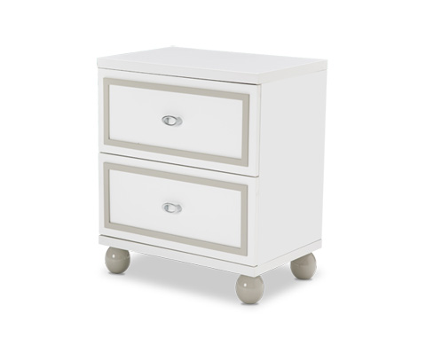 Image of Sky Tower Nightstand in Cloud White