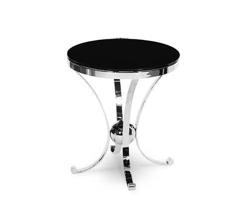 Michael Amini - Accent Round Glass Table - ACF-ACT-VINE-28