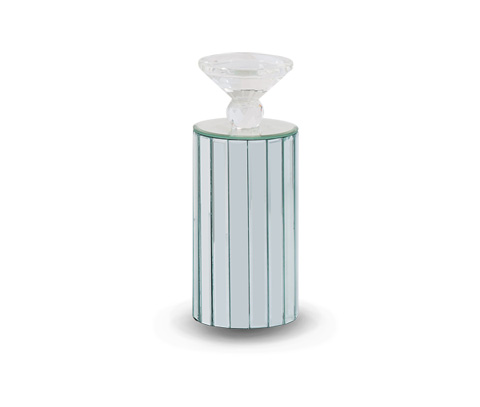 Michael Amini - Montreal Barrel Mirrored Candleholder - FS-MNTRL160-PK6