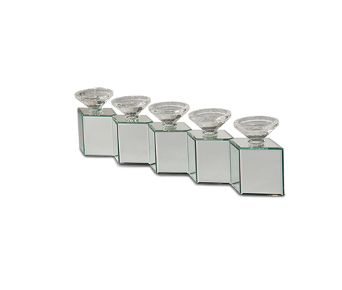 Image of Montreal Mirorred Cube Linear Candle Holder