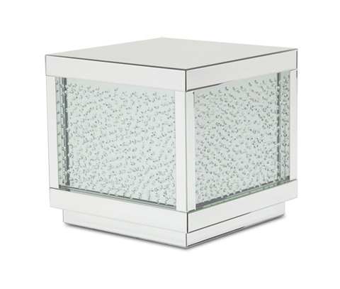 Image of Montreal Silver Mirrored End Table