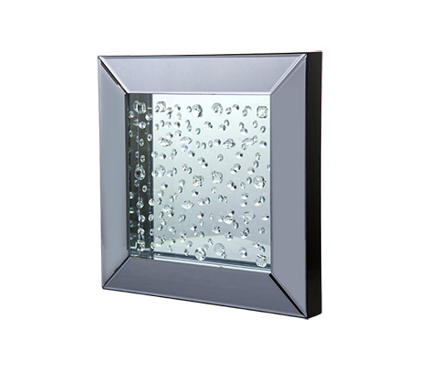 Image of Montreal Square Wall Mirror with Crystals
