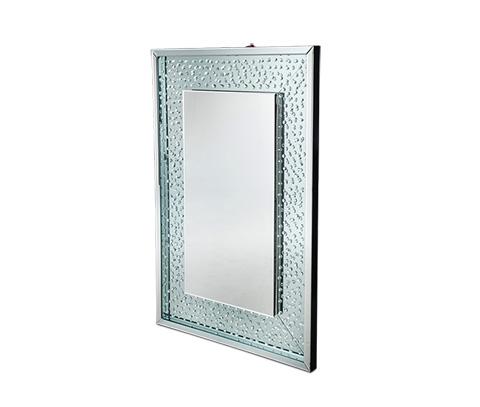 Michael Amini - Rectangular Crystal Framed Wall Mirror - FS-MNTRL265