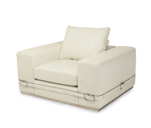 Michael Amini - Ciras Leather Chair - MB-CIRAS35-CRM-13