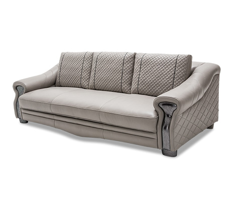 Michael Amini - Gabriella Leather Mansion Sofa - MB-GBRLA16-LGR-00