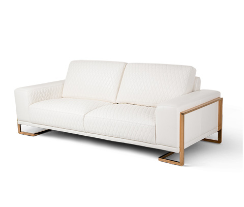 Michael Amini - Gianna Leather Standard Sofa - MB-GIANN15-WHT-801