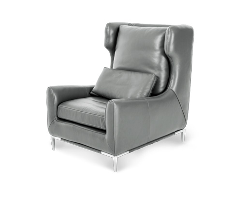 Image of Lazzio Leather Wing Chair