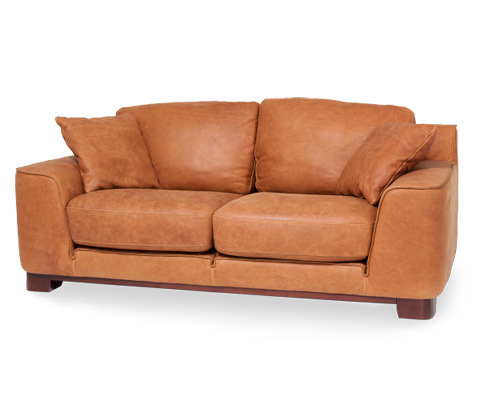 Michael Amini - Nafelli Leather Loveseat in Clay Espresso - MB-NAFLI25-CLY-43