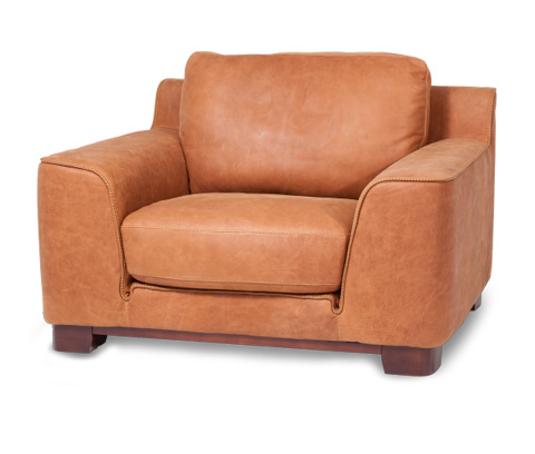 Michael Amini - Nafelli Leather Chair in Clay Espresso - MB-NAFLI35-CLY-43