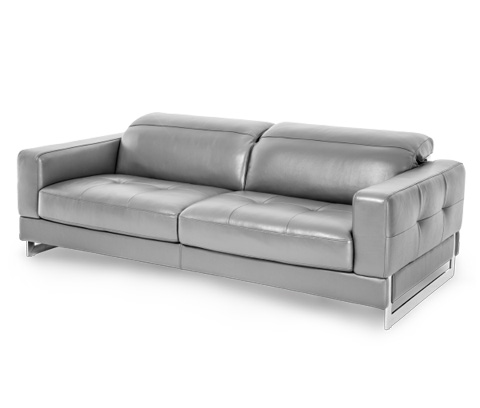 Image of Novelo Leather Sofa in Dark Grey