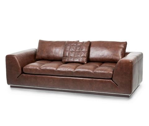 Michael Amini - Rosato Leather Sofa in Cordovan Espresso - MB-RSATO15-CRD-43