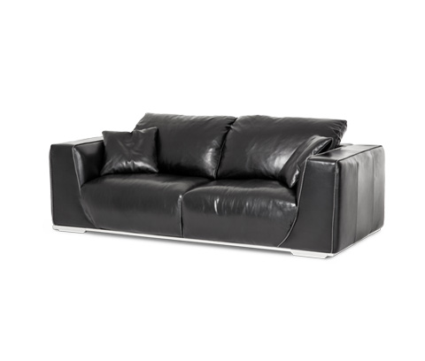Michael Amini - Sophia Leather Sofa - MB-SOPHI15-ONX-13