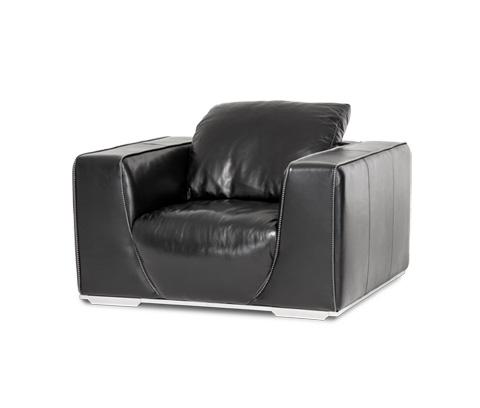 Michael Amini - Sophia Leather Chair - MB-SOPHI35-ONX-13