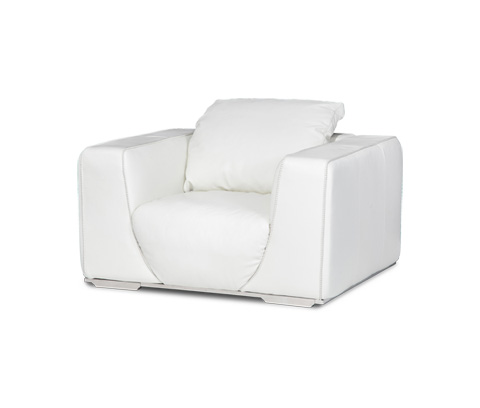 Michael Amini - Sophia Leather Chair - MB-SOPHI35-WHT-13
