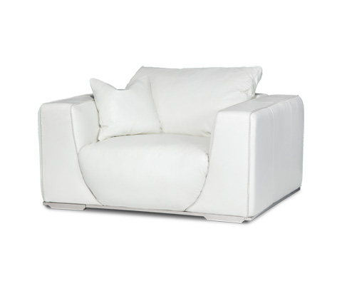 Michael Amini - Sophia Leather Chair and a Half - MB-SOPHI38-WHT-13