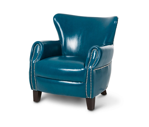 Michael Amini - Bladon Leather Accent Chair - ST-BLADN35-TEA-43