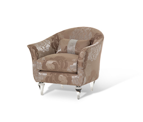Michael Amini - Rodeo Chair - ST-RODEO35-SLV-002