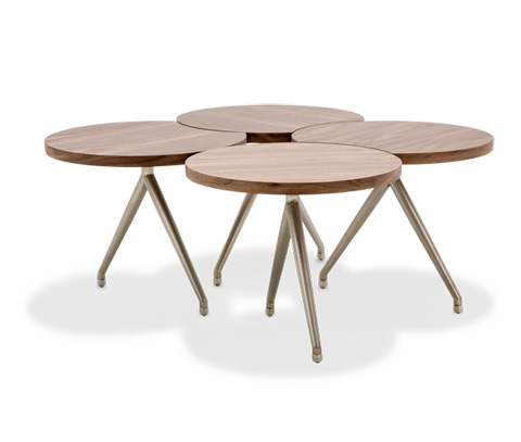 Michael Amini - Eclipse Modern Adjustable Cocktail Table - TR-ECLPS201