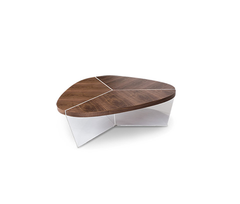 Michael Amini - Sector Triangular Cocktail Table - TR-SECTR201S