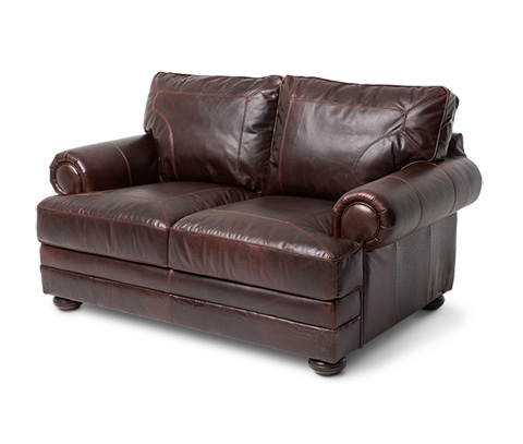 Michael Amini - Newbury Leather Loveseat - FS-NWBRY25-CHC-43