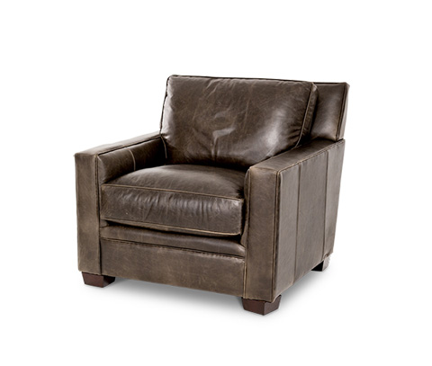 Michael Amini - Oxford Leather Chair - FS-OXFRD35-GRE-43