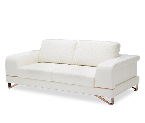 Michael Amini - Bianca Leather Standard Sofa - MB-BIANC15-WHT-801