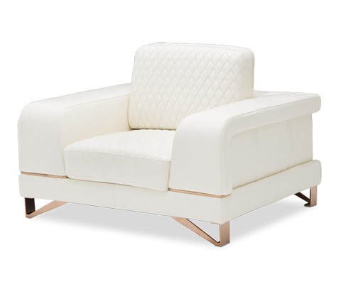 Michael Amini - Bianca Leather Chair and a Half - MB-BIANC38-WHT-801