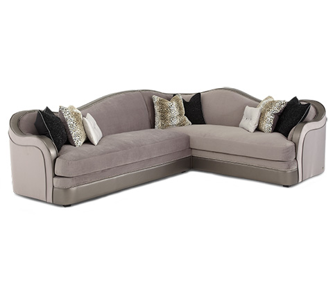 Michael Amini - Two Piece Sectional - 03812-SILVR-00/03823-SILVR-00