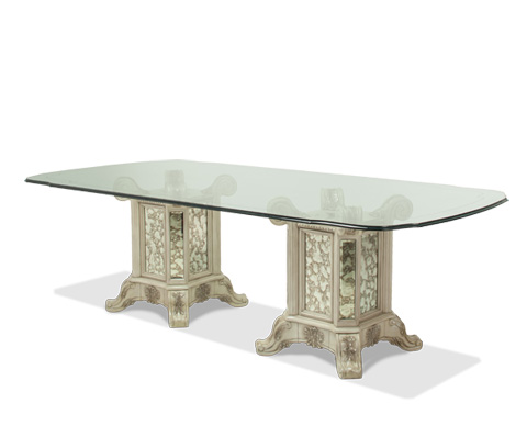 Michael Amini - Rectangular Glass Dining Table - 09001-201/09001-201/09102-00