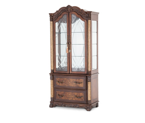 Michael Amini - Victoria Palace Display Cabinet with Lateral File - 61250-29/61209-29
