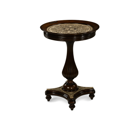 Michael Amini - Round Accent Tray Table - ACF-ACT-BRGN-012