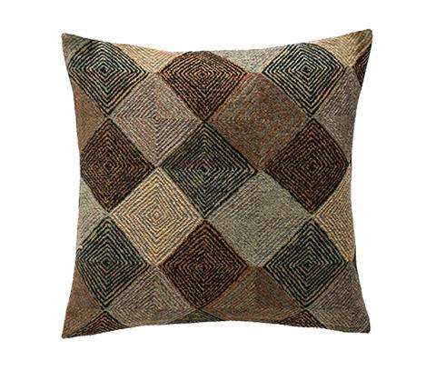 Michael Amini - Navajo Throw Pillow - BCS-DP22-NAVJO-BLK
