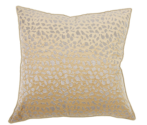 Michael Amini - Shimmer Throw Pillow - BCS-DP22-SHIMR-GLD