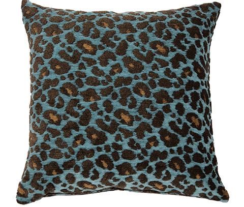 Michael Amini - Wild Life Throw Pillow - BCS-DP22-WLDLF-TUR