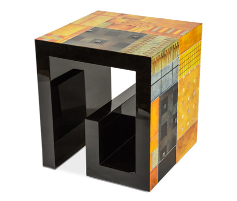 Image of Illusions Square End Table