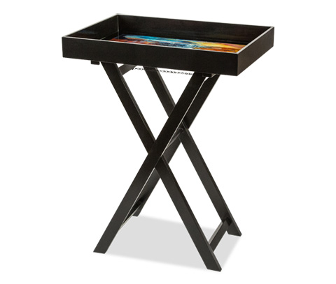 Michael Amini - Illusions Folding Tray Accent Table - FS-ILUSN-546